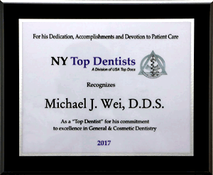 New York Top Dentist 2017 Award 300