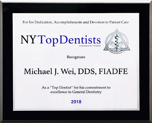 New York Top Dentist 2018 Award 300