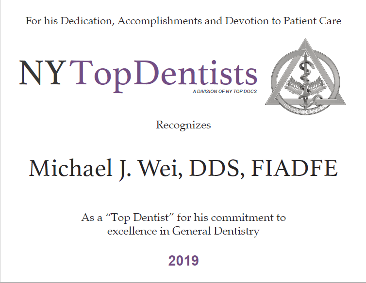 New York Top Dentist 2019 Award 300